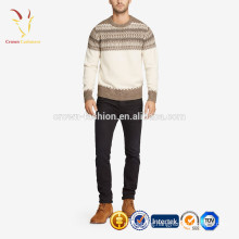 men winter heavy cashmere pullover Intarsia sweater