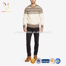 мужские зимние тяжелых кашемировый пуловер свитер Интарсия
