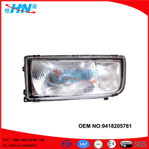 Mercedes Benz Actros Auto Body Parts Head Light 9418205761
