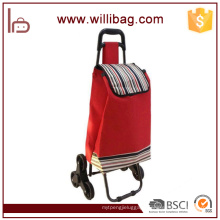 Wholesale Supermarket Folding Shopping Trolley Bag with Chair