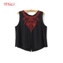 Summer Fashion Women Girl Clothes Black Sleeveless Tank Top