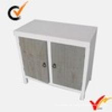 Weiße provinzielle Möbel Doppeltüren Bodenschrank