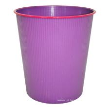 Caixote de lixo roxo de plástico aberto para casa (B06-931)
