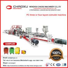 Taiwan Qualität & China Preis PC Extrusion Gepäck Blatt Maschine
