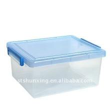 chine usine en plastique taille moyenne multi-usages clair boîte de rangement pour la vente en gros