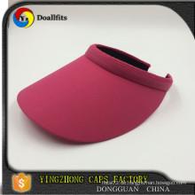 Kundenspezifische Entwurfsart und weise rote Farbendamen Sommersonne Visier