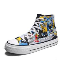 Men Casual Shoes Hand Painted Batman Fashion Sneakers