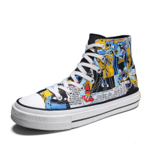 Men Casual Shoes Hand Painted Batman Fashion Sneakers