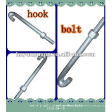 hot-dip galvanized steel anchor pole bolt f shaped/electric power outdoor construction hardware fitting