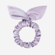 Scrunchies 100% de seda para cabelo com orelha de coelho Charmeuse