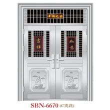 Puerta de acero inoxidable para sol exterior (SBN-6670)
