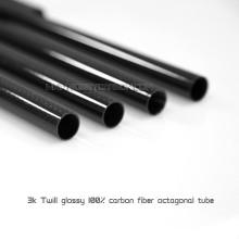 Vente chaude 15x13x500mm 100% Full 3K brillant / mat fibre de carbone Tube / tige carbone Paddle Shaft pour Drone