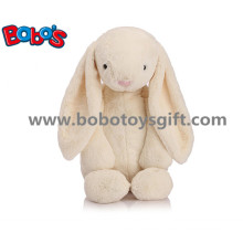Beige Cuddly Plush Stuffed Bunny Animal Toy with Big Ear as Promotional Gift