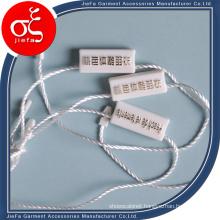Customized Burning Silver Logo Plastic Seal Tag