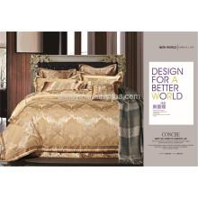 Juego de cama de lujo brillante de la cubierta del edredón de Royal Shaped Jacquard 4, 7, 10 pedazos