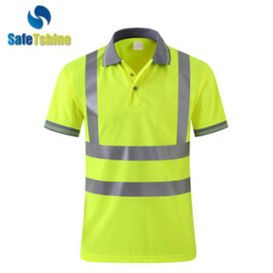 logo custom Polo tshirt yellow high light