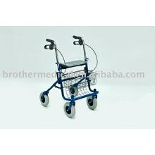 Deluxe 4-Rad-Bariatric Rollator-Blau