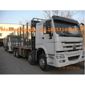 Sinotruk HOWO 2 axles log trak transpport