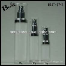 BEST-3747/lotion bottle/straight round shape acrylic jar,pmma,abs,as,15/30/45/70/50/120/228/ml cosmetic bottle