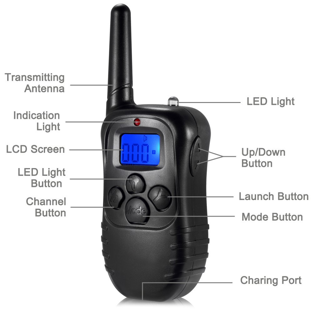 300m Remote Dog Training Tpu Collar Rechargeable And Waterproof Vibration Shock Electronic Electric 100level Anti Bark