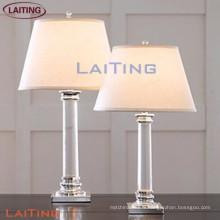Lampes en verre de table de chambre populaire lampe de bureau de style européen avec abat-jour blanc