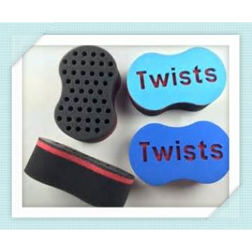 Les trous de forme ovale verrouillent et redoutent les outils de torsion de cheveux magiques avec la brosse de torsion d'éponge de vague