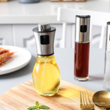 304 Stainless Steel Injection Bottle, Edible Oil Vinegar Spray Pressed Flavouring Bottle, Kitchen Barbecue Oil Control Glass Oil Pot.