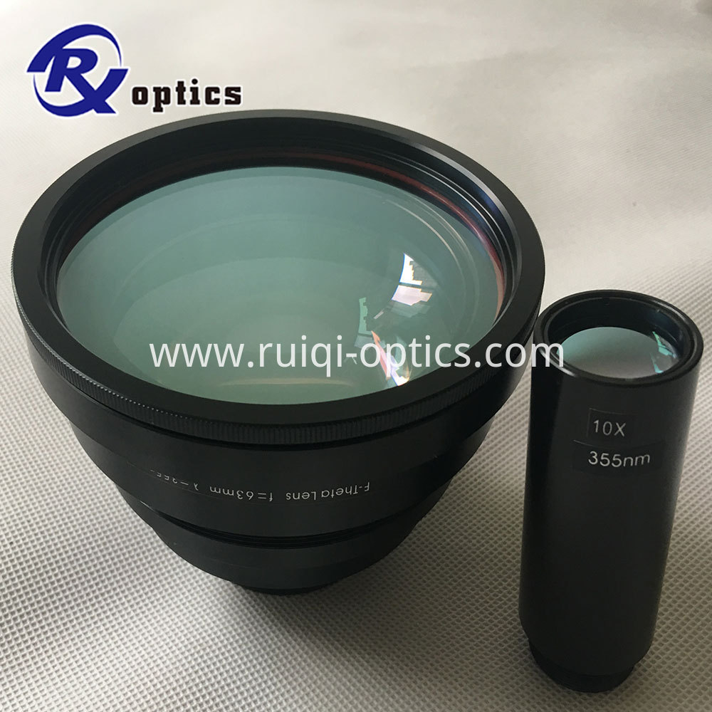 355nm beam expander lens and f-theta lens