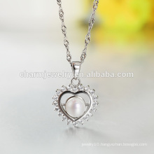 Beautiful Heart Shaped 925 Silver Necklace Designs for Women Wholesale 2016 Lastest Style SCR026