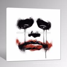 Moderne rote Lippenwand-Kunst / abstraktes Gesicht der Frauen-Segeltuch-Druck / Pop-Segeltuch-Wand-Kunst