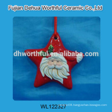 2016 new style ceramic christmas hanger with santa claus pattern