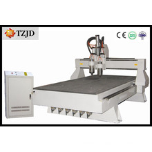 Muebles de madera de doble husillo CNC Router Machine