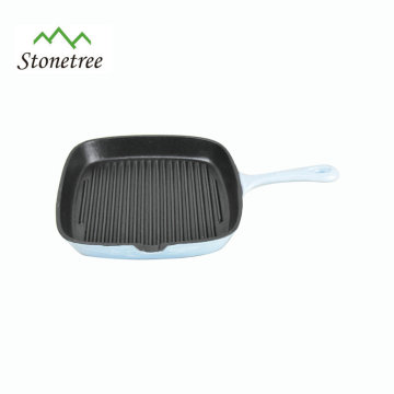 Top Quality Cast Iron Enamel Coating BBQ Grill Roasting Pan