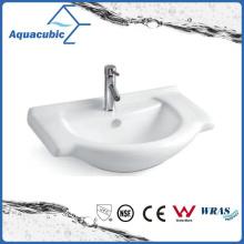 Salle d'eau semi-encastrée Baignoire en céramique lavabo à main (ACB8255)