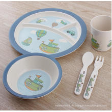 Hot-Sell Bamboo Fiber Children Ustensiles de cuisine / Vaisselle (BC-BB-SU2006)