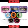 Crystal Screen Poker Chip Set (730PCS) -Ym-Sjsy001