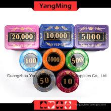 Ensemble de puces de poker écran cristal (730PCS) -Ym-Sjsy001