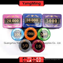 Crystal Screen Poker Chip Set (730PCS) -Ym-Sjsy001