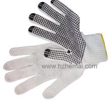 PVC-geputzte Baumwollhandschuhe Industrielle Handsicherheit Arbeitshandschuh