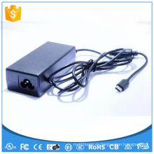 12V 5A Adaptador de la fuente de alimentación CA CC Tipo C 60W Adaptador del interruptor UL CE FCC GS SAA FCC ROHS