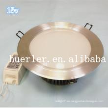 6 pulgadas de luz empotrada led ip65 15w led downlight