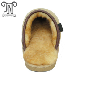 women best cow suede leather house sheepskin slippers