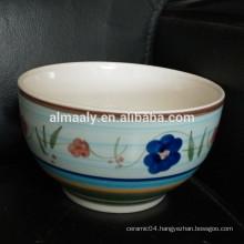 custom stoneware noodle bowl hand printing