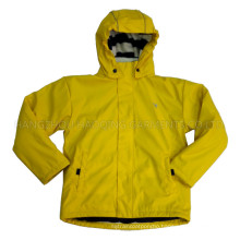 Solid Lemon Hooded Rain Jacket/Raincoat