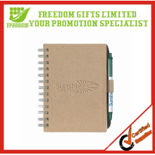 Cheap Cardboard Printed Note Book With Pen