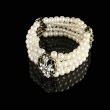 Fashion Jewelry Pearl Bracelet with Antique Bronze plating (CJ-B027)