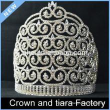 Custom Tiaras da coroa da representação da rainha da beleza