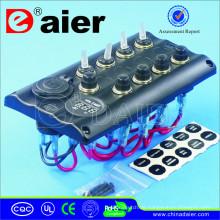 12V LED Auto Einbaubuchse USB Port mit Power und Voltmeter Buchse