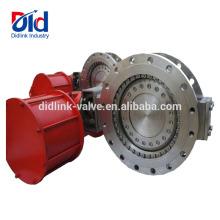 Operación Actuador Neumático Compensador de válvula de mariposa motorizada de acero inoxidable de tamaño pequeño y pequeño