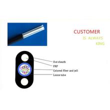 Fiber Optic Drop Kabel Central Loose Tube Flach 2 Core FTTH Drop Kabel